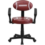 Flash Furniture Football Task Chair with Arms, Brown