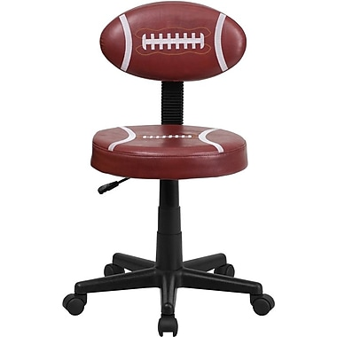 Flash Furniture Vinyl Football Task Chair Without Arms, Red