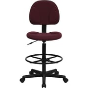 Flash Furniture Fabric Ergonomic Drafting Stool (Adjustable Range 26''-30.5''H or 22.5''-27''H), Burgundy