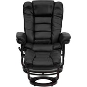 Flash Furniture Contemporary 40 1/2in.H Leather Recliner and Ottoman, Black