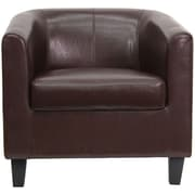 Flash Furniture Leather Office Guest Chair / Reception Chair, Brown