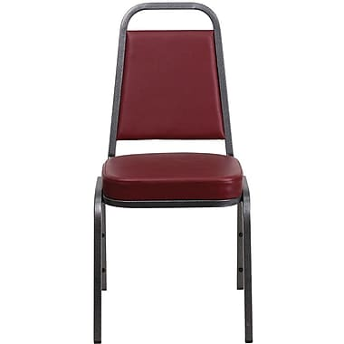 Flash Furniture HERCULES™ 19 1/4in.H Vinyl Trapezoidal Back Banquet Chair, Burgundy, 10/Pack