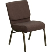 Flash Furniture HERCULES Series 21'' Extra Wide Stacking Church Chair with 4'' Thick Seat - Gold Vein Frame, Brown, 20/Pack