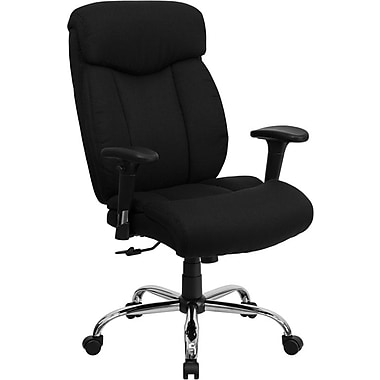 Flash Furniture HERCULES™ Big and Tall Fabric Office Chair With Arms, Black