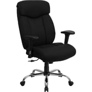 Flash Furniture HERCULES Series 350 lb. Capacity Big & Tall Fabric Office Chair with Arms, Black