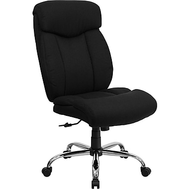 Flash Furniture HERCULES Series 350 lb. Capacity Big and Tall Fabric Office Chair, Black