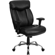 Flash Furniture HERCULES Series 350 lb. Capacity Big & Tall Leather Office Chair with Arms, Black