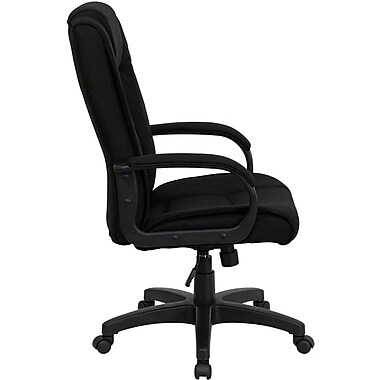 Flash Furniture High-Back Fabric Executive Chair, Fixed Arms, Black