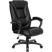 Flash Furniture High Back Leather Executive Office Chair with Layered Back Design, Black