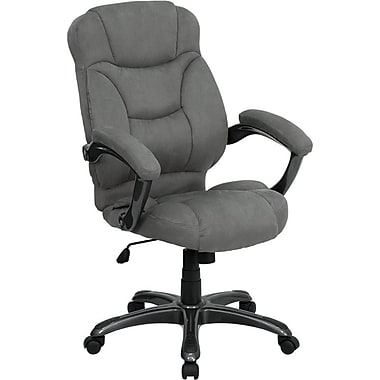 Flash Furniture High Back Microfiber Upholstered Contemporary Office Chair, Gray