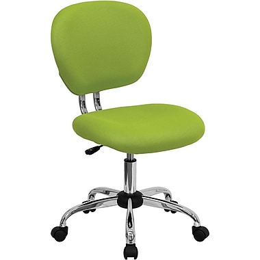 Flash Furniture Mid Back Mesh Task Chair With Chrome Base, Apple Green