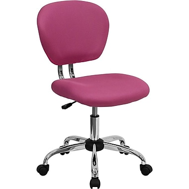 Flash Furniture Mid-Back Mesh Task Chair with Chrome Base, Pink