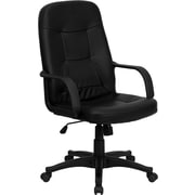Flash Furniture High Back Glove Vinyl Executive Office Chair, Black
