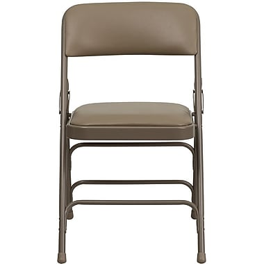 Flash Furniture HERCULES™ 12/Pack Curved Triple Braced Vinyl Armless Folding Chairs