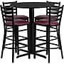 Flash Furniture 30'' Round Black Laminate Table Set