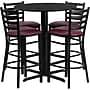 Flash Furniture 30'' Round Black Laminate Table Set