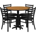 Flash Furniture 36in. Natural Laminate Table Sets With 4 Ladder Back Metal Chairs
