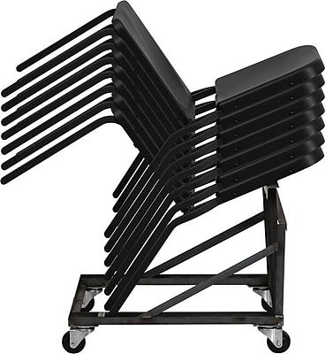 Flash Furniture HERCULES Series High Density Stackable Melody Band/Music Chair, Black, 12/Pack 201211