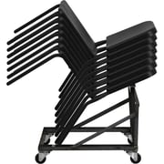 Flash Furniture HERCULES Series High Density Stackable Melody Band/Music Chair, Black, 12/Pack