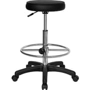 Flash Furniture Backless Drafting Stool with Adjustable Foot Ring, Black
