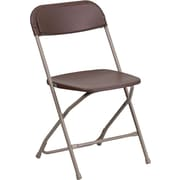 Flash Furniture HERCULES Series 800 lb. Capacity Premium Plastic Folding Chair, Brown, 52/Pack