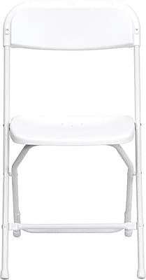 Flash Furniture HERCULES Series 800 lb. Capacity Premium Plastic Folding Chair, White, 24/Pack 201262