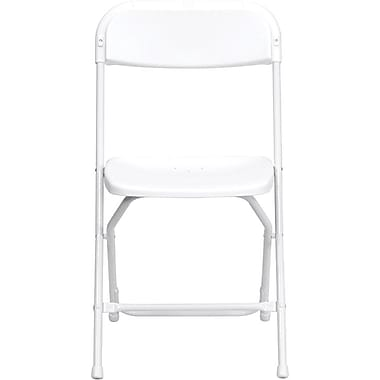 Flash Furniture HERCULES™ Plastic Armless Folding Chair, Premium White, 10/Pack