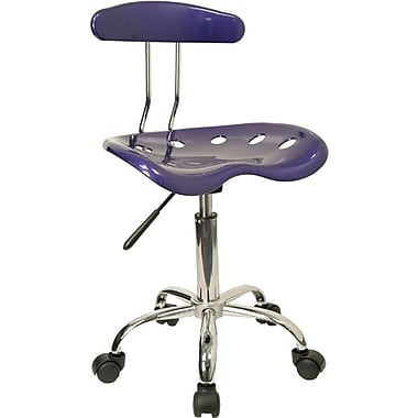 Flash Furniture LF-214-DEEPBLUE-GG Polymer Armless Computer Task Chair, Deep Blue