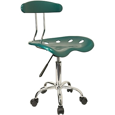 Flash Furniture LF-214-GREEN-GG Polymer Armless Computer Task Chair, Green