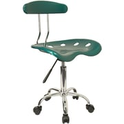 Flash Furniture Plastic Computer and Desk Office Chair, Armless, Green (LF214GN)
