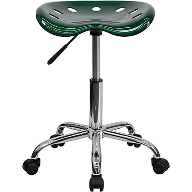 Flash Furniture Vibrant Tractor Seat Stool, Green