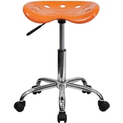Flash Furniture Vibrant Tractor Stool, Orange