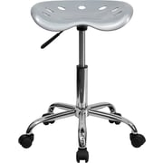 "Flash Furniture 25.75"" Vibrant Tractor Stool, Silver (LF214ASILVER)"