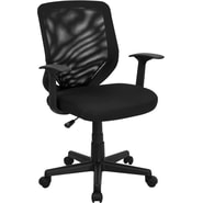 Flash Furniture Mid-Back Mesh Office Chair with Mesh Fabric Seat, Black