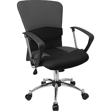 Flash Furniture Mid Back Mesh Office Chair, Grey