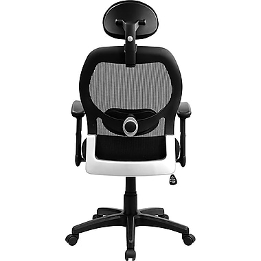Flash Furniture LFW42BLBKHR Mesh High-Back Executive Chair with Adjustable Arms, Black