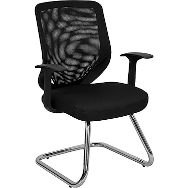 Flash Furniture Mesh Back Office Side Chair With Mesh Fabric Seat, Black