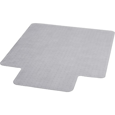 Flash Furniture Vinyl Carpet Chairmat With Lip, 36in. x 48in., Clear