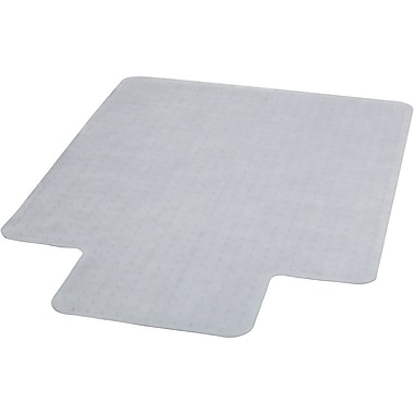 Flash Furniture Vinyl Carpet Chairmat With Lip, 45in. x 53in., Clear