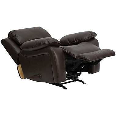 Flash Furniture Leather Rocker Recliner, Brown