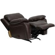 Flash Furniture Leather Rocker Recliner, Brown