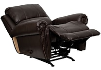 Flash Furniture Plush Back Leather Rocker Recliner, Brown