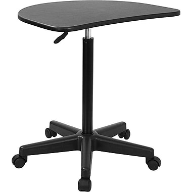 Flash Furniture Height Adjustable Mobile Laptop Computer Desk, Black