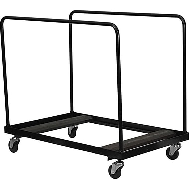 Flash Furniture Steel Folding Table Dolly for Round Folding Tables, Black