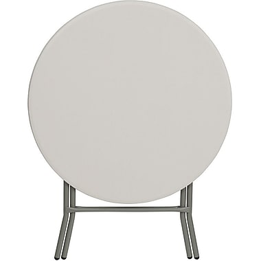 Flash Furniture 32'' Round Plastic Folding Table, Granite White