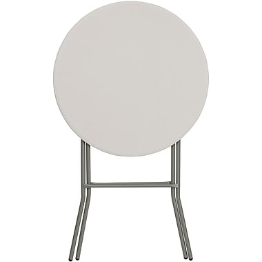 Flash Furniture 32'' Round Plastic Bar Height Folding Table, Granite White