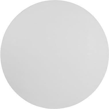 Flash Furniture 72'' Round Plastic Folding Table, Granite White, 6/Pack