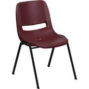 Flash Furniture HERCULES Series 880 lb. Capacity Ergonomic Shell Stack Chair, Burgundy