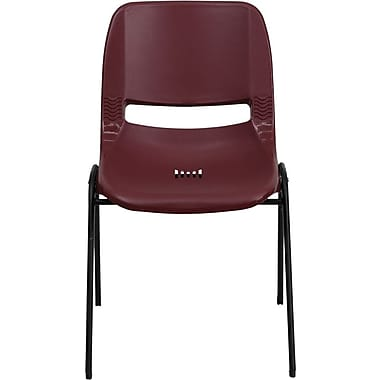 Flash Furniture HERCULES Series 880 lb. Capacity Ergonomic Shell Stack Chair, Burgundy, 60/Pack