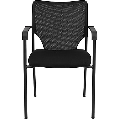 Flash Furniture HERCULES™ Foam Powder Coated Frame Stacking Arm Chair, Black, 15/Pack